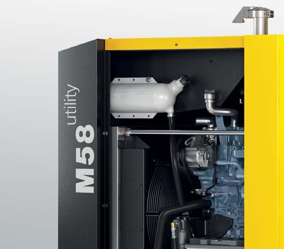 M 57/58 Utility In many cases, ready-access to a permanent supply of quality compressed air is too important to warrant towing a compressor around, fi nding a place for it, connecting it, uncoupling