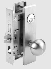 MK9000 Series Trim Designs The MK9000 Series Heavy-Duty Mortise Locks are available in two knob designs KB and KR knobs include steel reinforcement.