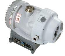 Performance Curves XDS35i Scroll vacuum pump XDS35i XDS35i Performance Curve Peak pumping speed 40 35 m 3 h -1 (21 ft 3 min -1 ) Ultimate Pressure 1 x -2 mbar (8 x -3 Torr) (m 3 h -1 ) 35 30 25 20 15