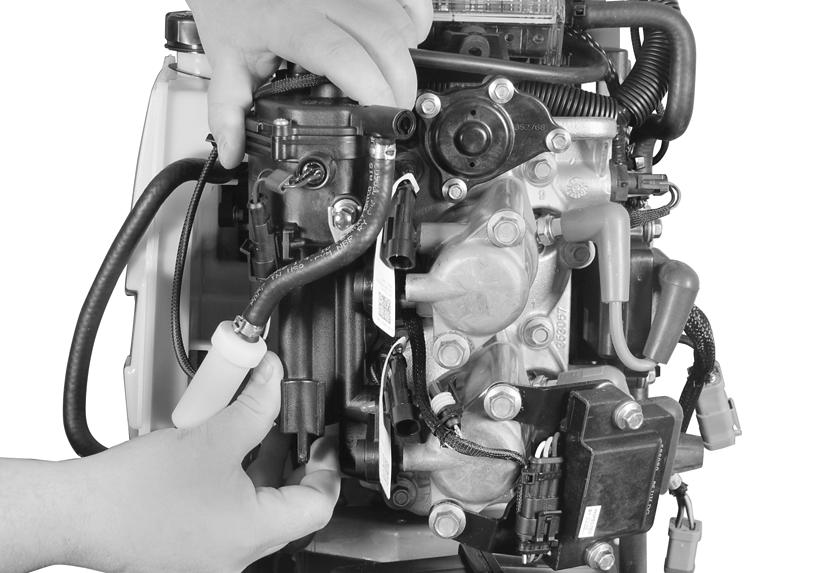 . Injector seals 007099 Position fuel injector wiring, vapor separator wiring and