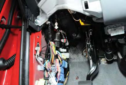 Plug in 4 cavity Molex connector from the main harness into the rear of the shock sensor. INSTALLATION PROCEDURES!