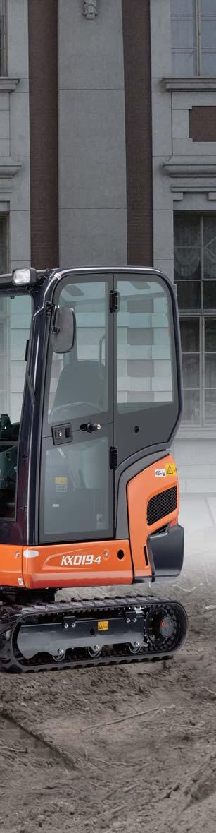 Kubota s new KX019-4 mini excavator raises