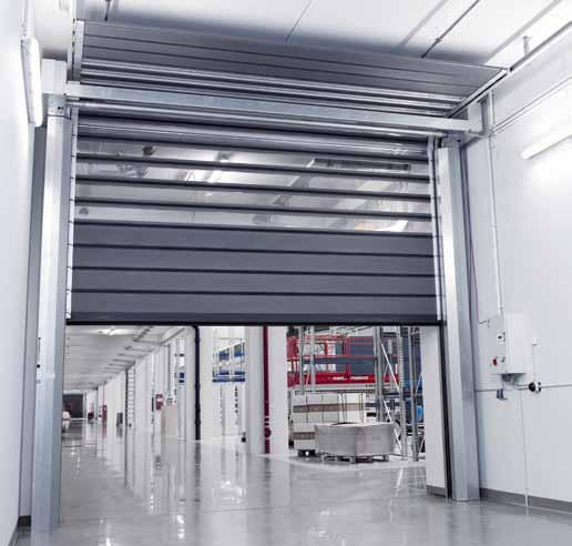 EFA-SST Low-header model. Optimized door solutions in limited space The EFA-SST is available in a special model for low headroom situations. It reaches opening speeds of up to 1.