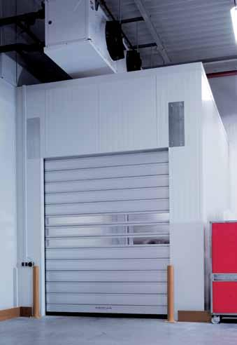Optimised sealing for controlled temperature zones. A glance at the advantages of the EFA-SST -ISO-60: Optimum solution for cold storage rooms Maximum speeds of up to 2.