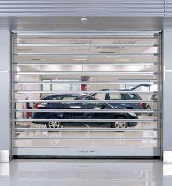 Clear vision for your premises. High performance for materials handling Given the constant traffic of goods, doors in materials handling systems must withstand an enormous number of operating cycles.