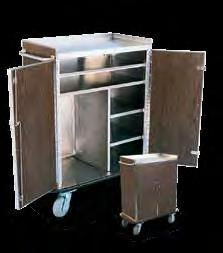 ROOM SERVICE CARTS Model 4966 Laminate exterior Stainless steel interior Stainless