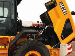 JCB CommandPlus cab with two LCD screens give easy access to