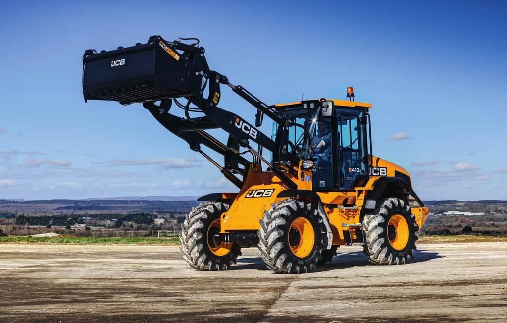 413S WHEEL LOADER. 2. JCB CommandPlus Cab The ultimate in operator comfort and productivity. Unrivalled visibility, command driving position and seat mounted controls keep you in total command. 5.