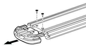 c) Loosen but do not remove bolts holding front bracket to frame using 12mm socket. Loosen front bracket only. Fig.