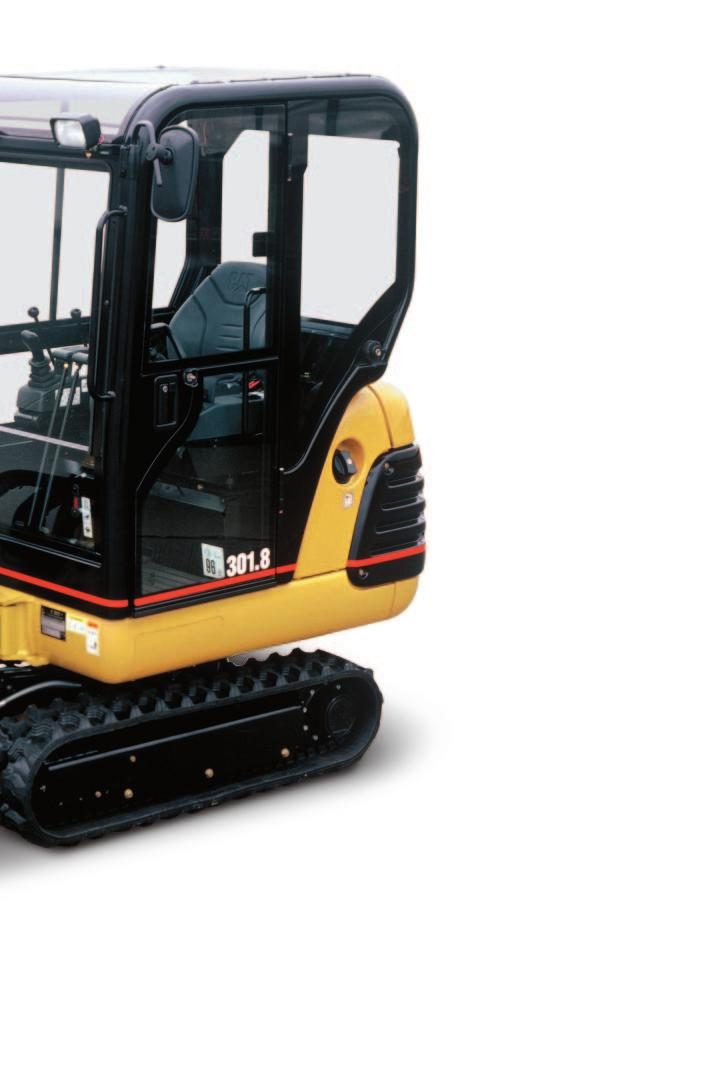 Work Tools Caterpillar buckets and hydraulic powered tools, matched to fit the 301.5, 301.