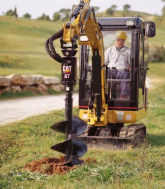 pg. 5 Work Tools Caterpillar designed work tools extend the versatility of these Mini Hydraulic