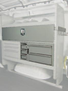 COMMERCIL VN PCKGES Featuring Dseries djustable Shelving 4316G Order Code 4 COMMERCIL VN PCKGES Poly Liner & Left Hand Door Van Packages Full Size Van Poly Protecto-Van Liner Package Includes