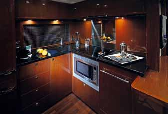Lower Saloon Galley Helm The interior is contemporary and