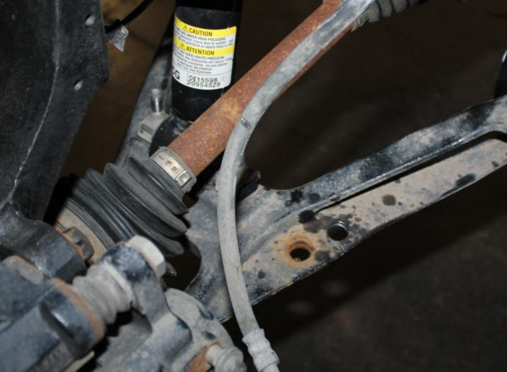 25) Locate the factory sway bar with the factory mounts and attach