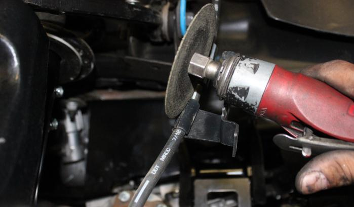 Remove Ball Joint Nuts 7) Remove the 3 bolts holding the wheel bearing to the