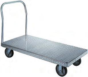aluminum platform trucks Aluminum Platform Features: Aluminum is corrosion resistant and maintains clean appearance. Strong enough to handle up to 3,000 lbs (depending upon caster selection).