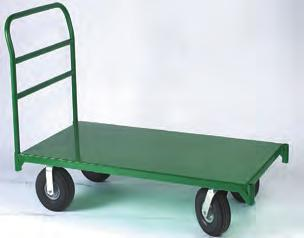 steel Platform trucks Steel Platform Features: Heavy duty 12 gauge steel reinforced welded construction. Constructed for both standard corner or diamond caster mounting pattern.