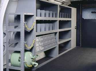 PLUMBING & HVAC CONTRACTORS Visually organize equipment and parts boxes for efficient work space. Adjustable shelving and dividers are easily set up for any need.