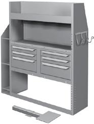 Parts Drawers 46 H x 7 W x D 9 07497KP Lockable Storage Door H x 7 W 0 Specify Make Partition Attachment Panels* PLUMBING / HVAC / contractor Package Full-Size Vans PACKAGE #0660FKP / 0660CKP 0684KP