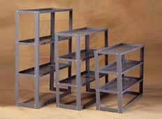 Solid Steel Shelving Modules Masterack adjustable steel shelving offers strong, durable and economical storage for a variety of items.
