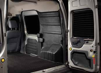 Cargo Protection Packages FOR TRANSIT CONNECT Choose from the standard cargo wall liner kit, the LinerRack, or a