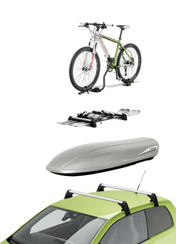 Basic roof rack for 3-door version (1ST 071 126); for 5-door version (1ST 071 126A) Lockable bicycle rack with aluminium profile; capacity up to 20 kg The bicycle holder is the right thing for all
