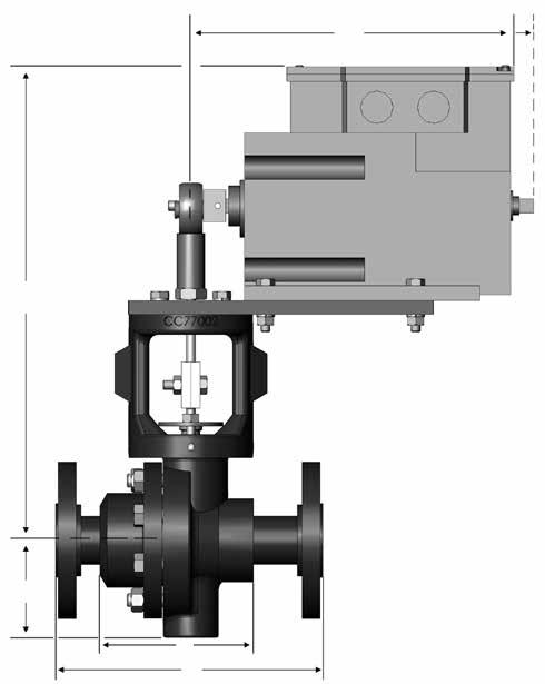 "Mark 33/331/332 Electric Motor Operator Control Valve Dimensions B D d Ends 1/ 3/4"" ANSI Dimensions (inches) A1 B C D (lbs.) 150# 7.25 12.95 2.18 7.50 19 300# 7.50 12.95 2.18 7.50 21 150# 7.25 12.95 2.18 7.50 21 300# 7."