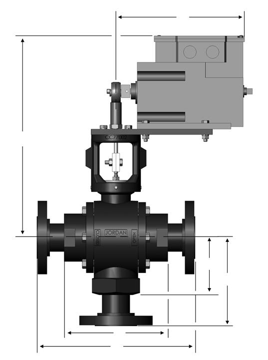 Mark 39/39MX Electric Three-Way Control Valves Dimensions D B C C 1 A A 1 Threaded Ends 1-1/ Material Dimensions (inches) A B C D (lbs) DI/BRZ 7.12 13.70 3.75 7.00 32 CS/SS 7.12 13.70 3.75 7.00 32 DI/BRZ 7.