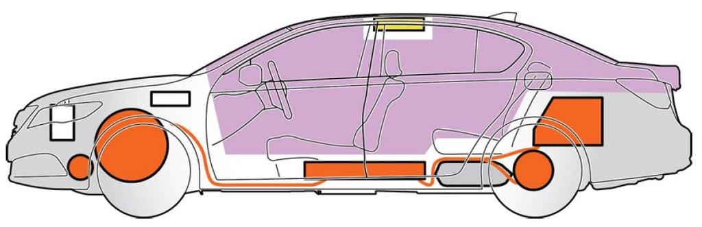 Emergency Component Procedures Locations Extricating Occupants If you need to cut the vehicle body or use Jaws-of-Life