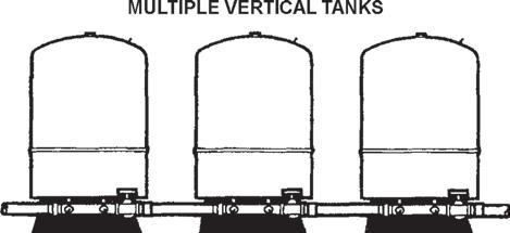 The tank pressure must be set 2 PSI lower than the pump cut-on pressure. Check tank pressure with a standard air gauge at the top of the tank as needed.