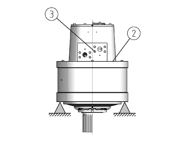 The operating temperature of the motor may be over 60 ºC (140 F), which is hot enough to cause severe burns. Beware of hot hydraulic fluid when disconnecting the hydraulic connections. FIG. 2.