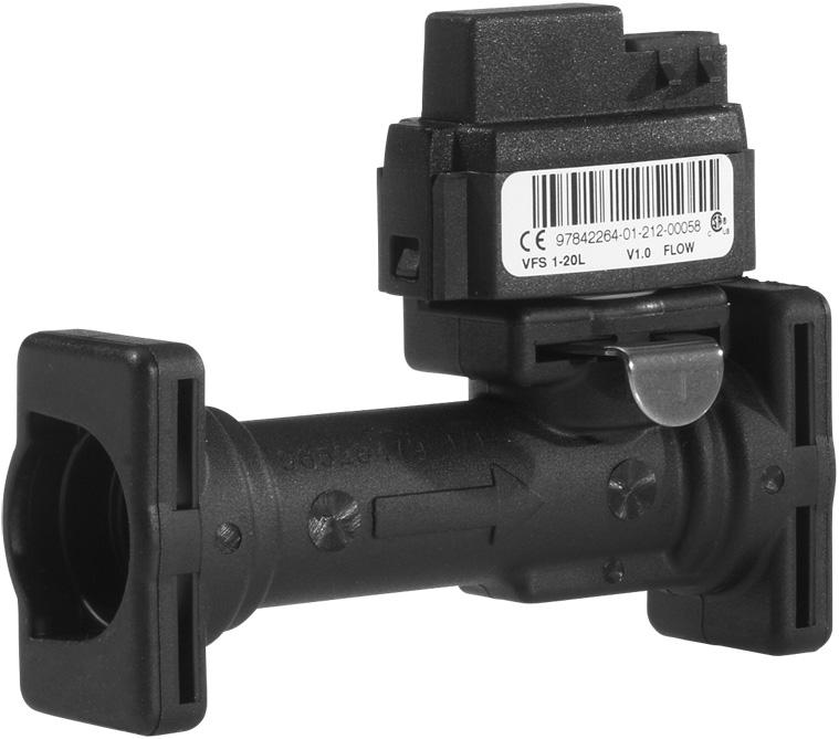 3 Grundfos Direct Sensors Vortex flow sensor, standard VFS 1-20, technical data Vortex flow sensor, standard, 1-20 l/min TM05 4751 2512 Temperature output signal (V) Temperature ( C) Fig.