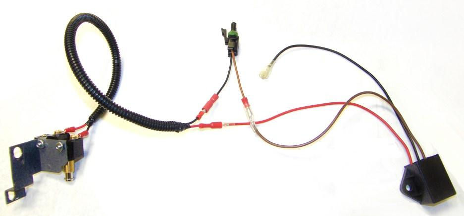 7. Install the LGT-142, time delay, underneath the brake cables using the Included Hardware.