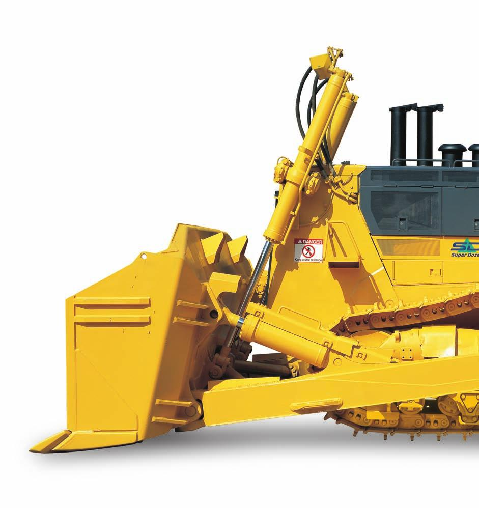 D475A-5SD S UPER D OZER WALK-AROUND Komatsu-integrated design for the best value, reliability, and versatility.
