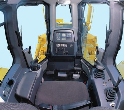 The floor mat and door sill are the same height to facilitate easy cleaning. The high quality cab interior is fully lined with sound absorbing material.