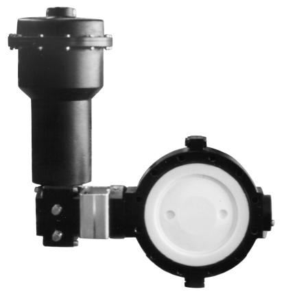 Lined Butterfly Valve Pfeiffer Type BR 10a Application Tight closing, double eccentric butterfly valve with PTFE lining for process engineering and plants with industrial requirements, especially