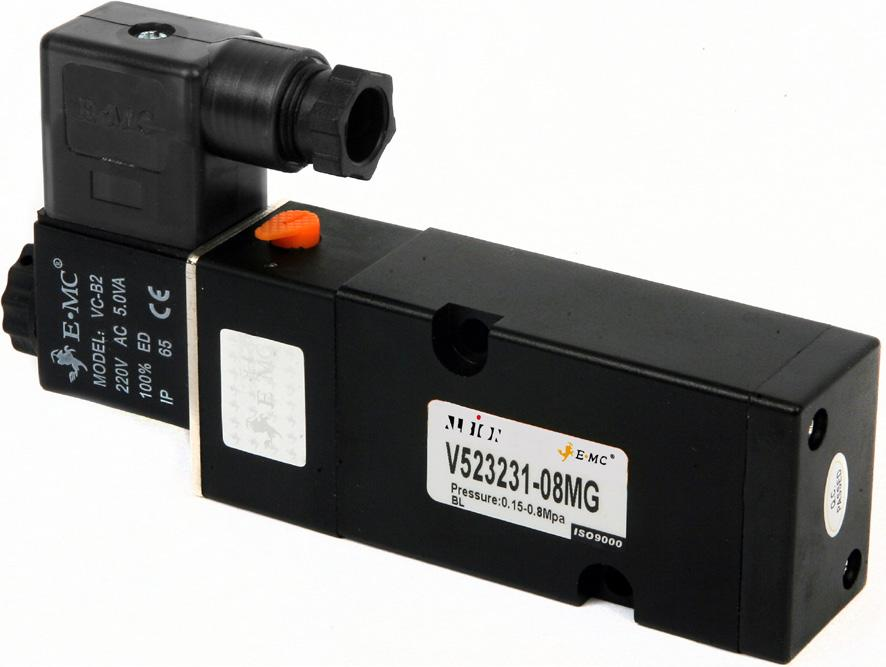 Namur Solenoid Universal Direct Mount Namur Solenoid Life Cycle 12,000,000 operations 5/2-3/2 Interchangeable Available in 110VAC, 230VAC, 24VAC, 24VDC IP65 Manual over-ride control 68.