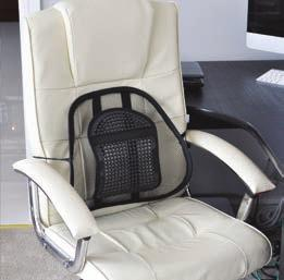 relieve pressure on the spine Air flow mesh fabric keeps you cooler Strap to easily secure the cushion to