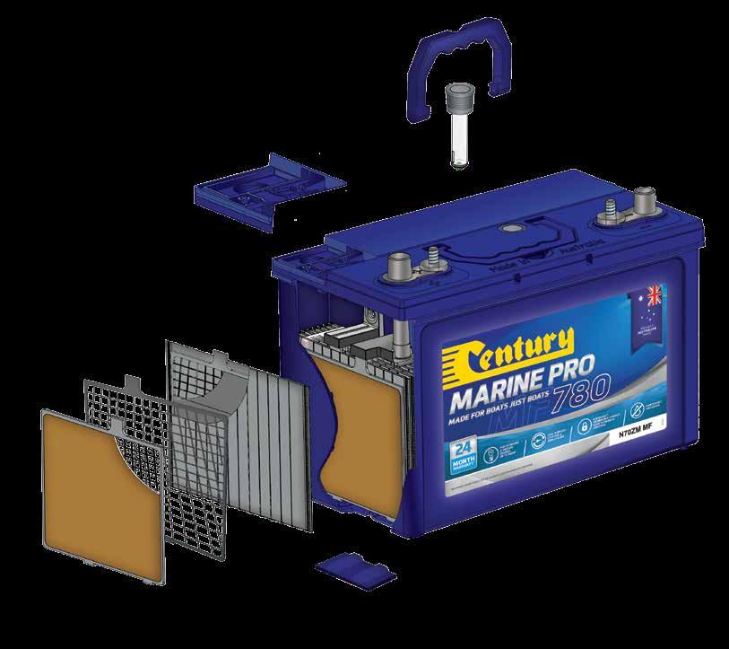 components, Century batteries are specifically designed to handle the rigours of wave pounding