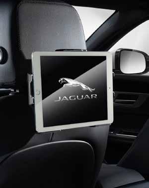 IPAD HOLDER Jaguar branded ipad holder mounts to front seat headrests providing a flexible solution for