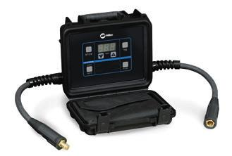 cables. Connect the FieldPro Remote in line with the electrode holder or TIG torch with standard welding cables and have complete remote control. FieldPro Remote Superior arc performance.