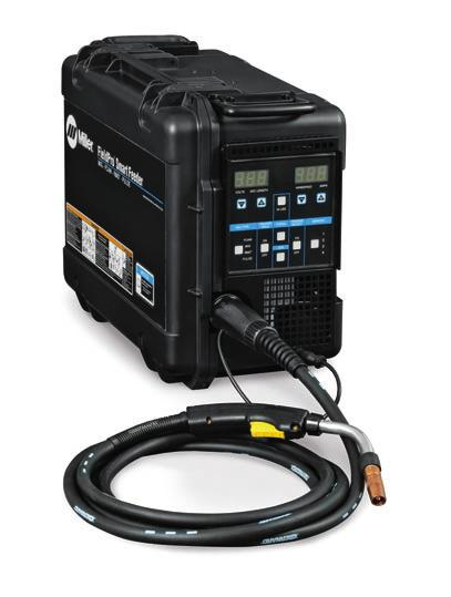 RMD and Pulsed MIG Welding Processes Smart Feeder delivers excellent RMD and Pulsed MIG welding up to 200 feet away from the power source with no control cables twice the distance previously possible.