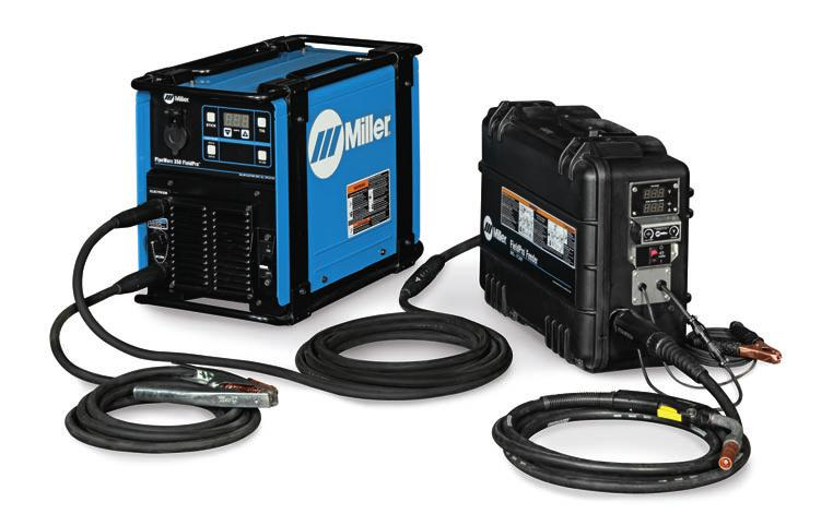 Remotely change process and polarity Set actual amperage No need to swap weld cables Detects improper connection MIG/Flux-Cored System PipeWorx FieldPro MIG/Flux-Cored Welding System package (#951