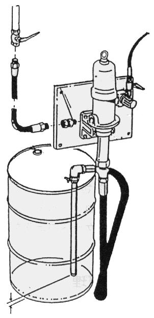3.2 Installing the Siphon Pump When installing the pump at the panel unit (separately available) or the mounting bracket, observe the following procedure.
