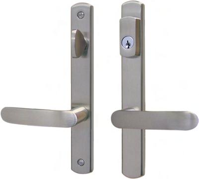 ALLEGRO TORINO Solid Brass Handle & 30mm Plate Series ALLEGRO Series Unassembled Trim Kits Handle sets for active doors with US-cylinder 1 K-U3192-01-0-* (cylinder included)