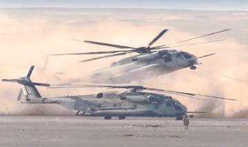 6 Evolution of the CH-53E Super Stallions: T he successful experience with the two engine H-53 series helicopters for combat assault, minesweeping, naval missions,