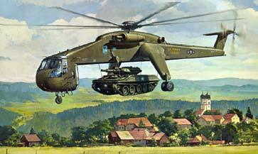 Sikorsky initiated a S-64B super flying crane program to be responsive to the Army Heavy Lift Helicopter (HLH) program, and the U.S. Navy/Marine requirements for a three engine aircraft.