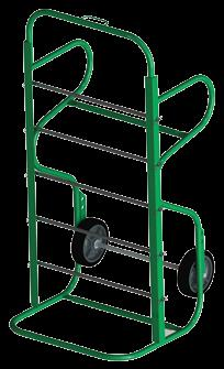 capacity, excellent for storing, transporting or feeding wire. Save space, use and store vertically or horizontally.