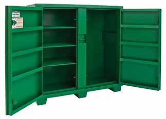 = new product = Replacement Part = Accessory B = Bare tool Utility Cabinets 5660LH Recessed and concealed lock protectors for maximum security against drilling and cutting lock. Flush-mounted doors.