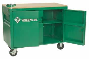 "STORAGE & MATERIAL HANDLING Bi-Fold Cabinet Maximum storage capacity with minimum floor space requirements. Four (4) individual 15"" d. x 14-1/2"" h. x 60"" w."